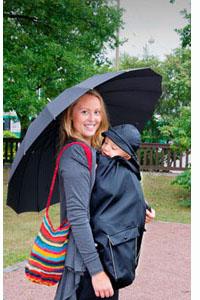Porter bébé quand il pleut - Blog au Naturel